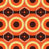 Sesenta retro naranja — Vector de stock