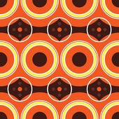 Sixties orange retro — Vector de stock