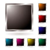 Silver bevel icon — Stock Vector