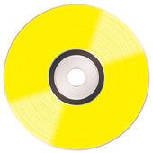 Shiny gold cd — Stock Vector