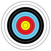 Blanco de tiro con arco — Vector de stock