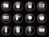 Blackberry buttons gadgets — Stock Vector