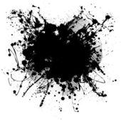 Black blob — Stock Vector
