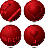 Birthday button — Stock Vector