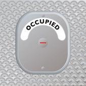 Secure door occupied — Stock Vector