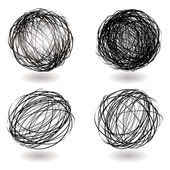 Scribble nest variation — Wektor stockowy