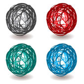 Scribble abstract ball — Stock Vector