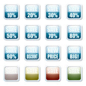 Sale discount button — Stock Vector