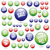 Sale buttons collection — Stock Vector