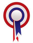 Red white blue rosette awards — Stock Vector