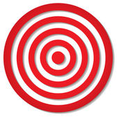 Red target — Stock Vector