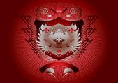 Красный щит Готика — Cтоковый вектор