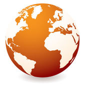 Red hot globe — Vector de stock