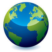 Realistic earth globe — Vecteur