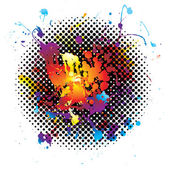 Rainbow splatter grunge — Stock Vector