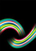 Rainbow over — Stock Vector