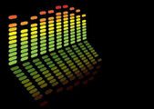 Rainbow equaliser — Stock Vector
