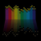 Rainbow equaliser — Stock Vector