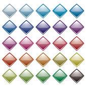 虹のダイヤモンドのバリエーション — ストックベクタ