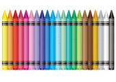 Rainbow crayon — Stock Vector