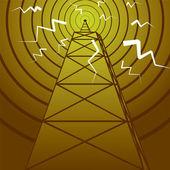 Radio mast — Stockvektor