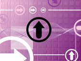 Purple arrow — Stock Vector