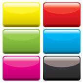 Plastic oblong blank — Stock Vector