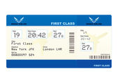 Plane ticket — Vettoriale Stock