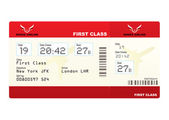 Plane tickets first class — Stock Vector