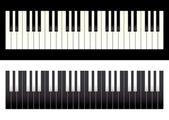 Piano keyboard contrast — Stock Vector
