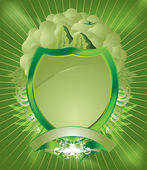 Pale green shield — Stock Vector