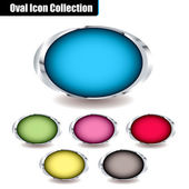 Oval collection — Stock Vector