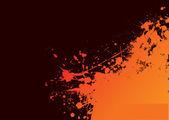 Orange grunge sun — Stock Vector