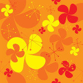 Orange fan background — Stock Vector