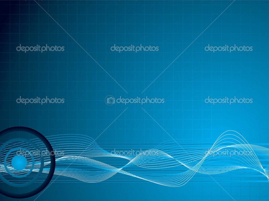 Abstract background with an overlayed grid and flowing wavy lines — Stock Vector #3410027