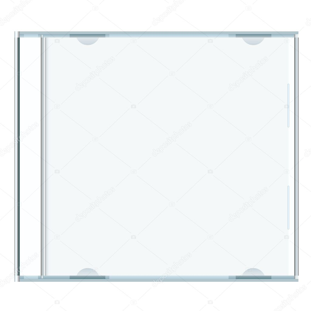White blank music cd case with room to write your own text — Stock Vector #3413009