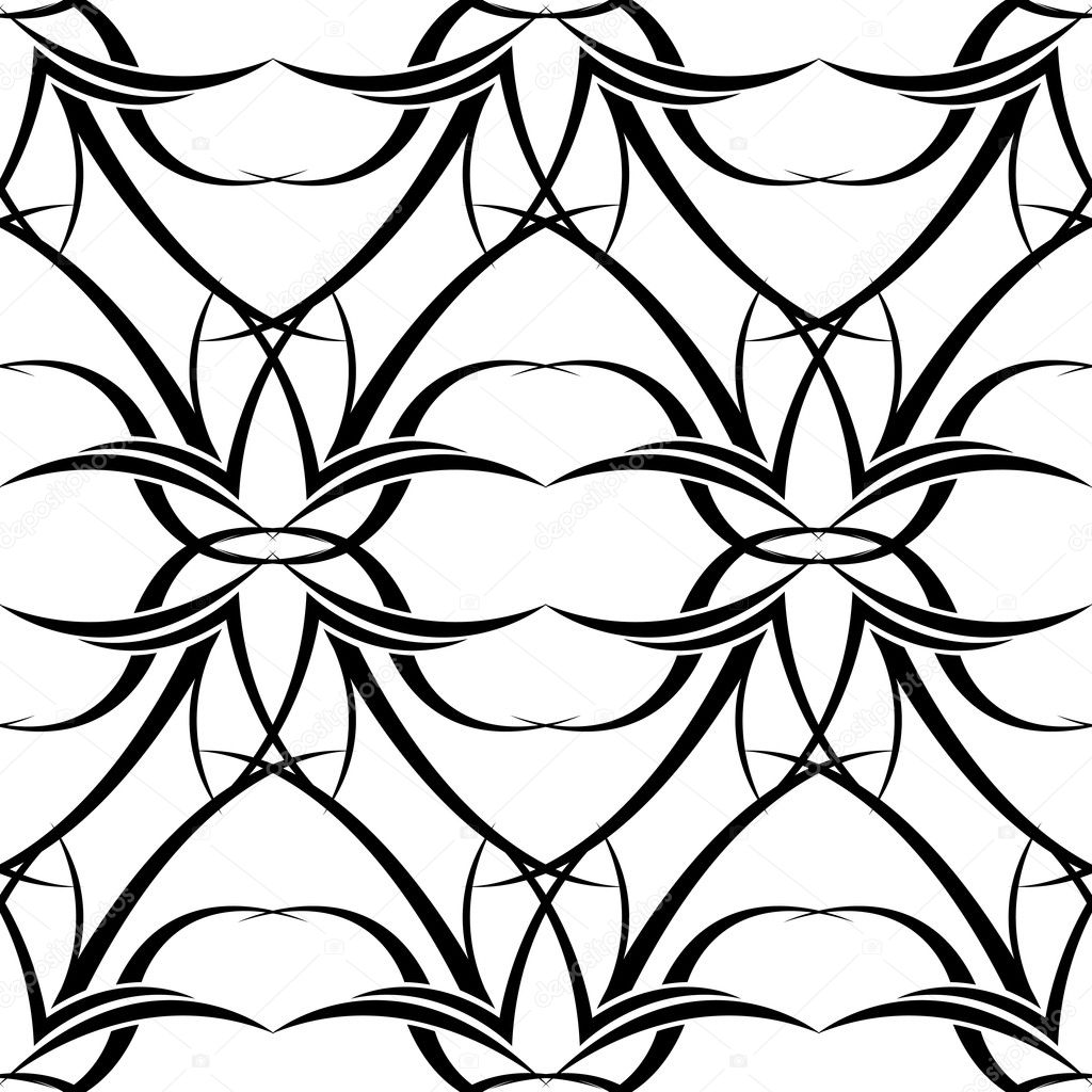 Black and white seamless