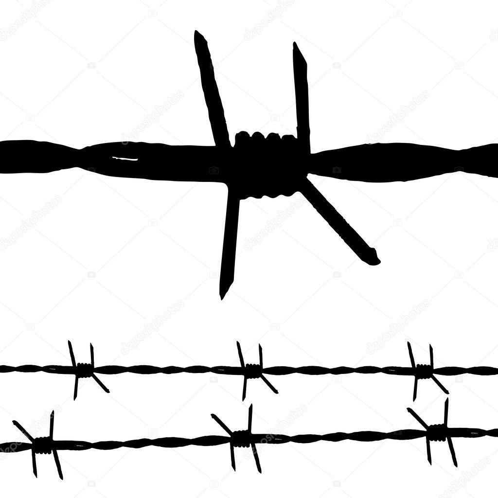barbed wire  u2014 stock vector  u00a9 nicemonkey  3413303