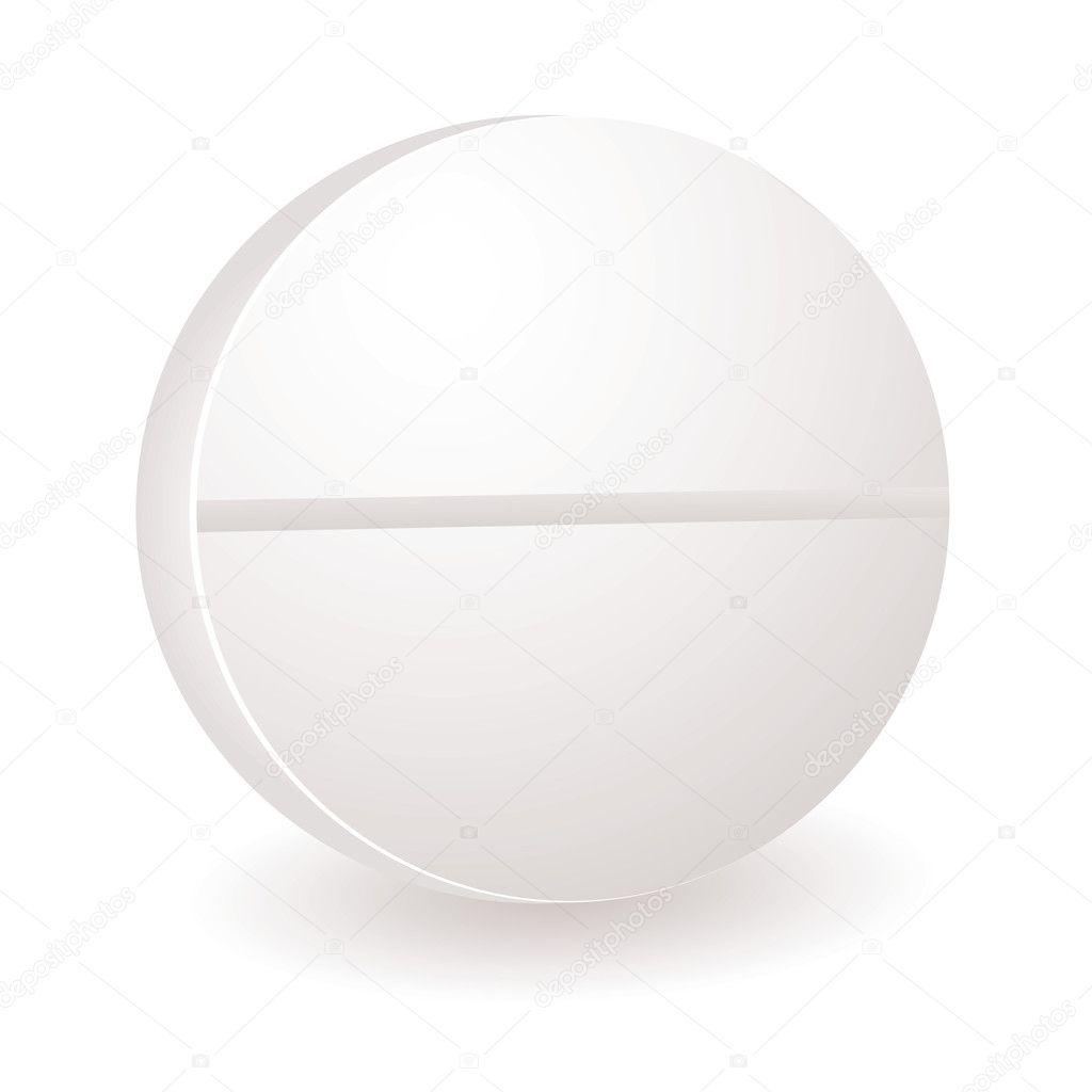 Round white pill a 53 http depositphotos com 3414980 stock