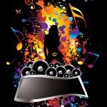 Musical splat — Stock Vector