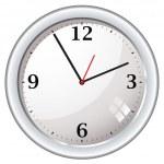 moderní retro nástěnné hodiny — Stock vektor