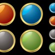 Metal rim buttons — Vector de stock #3421349