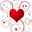 Royalty-Free Stock Imagen vectorial: Love heart swirl