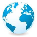 lichte blauwe bol — Stockvector