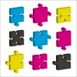 Jigsaw pieces cmky — Stock Vector