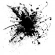 Royalty-Free Stock Vektorfiler: Ink splatter one