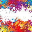 Ink splat rainbow white — Stock Vector #3422383
