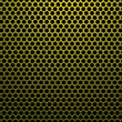 Hexagon metal gold — Image vectorielle