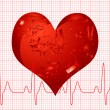 Heart beat - Stock Vector