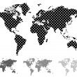 Halftone world map — Stock Vector